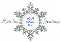 Prismatic Snowflake Logo Holiday Cards